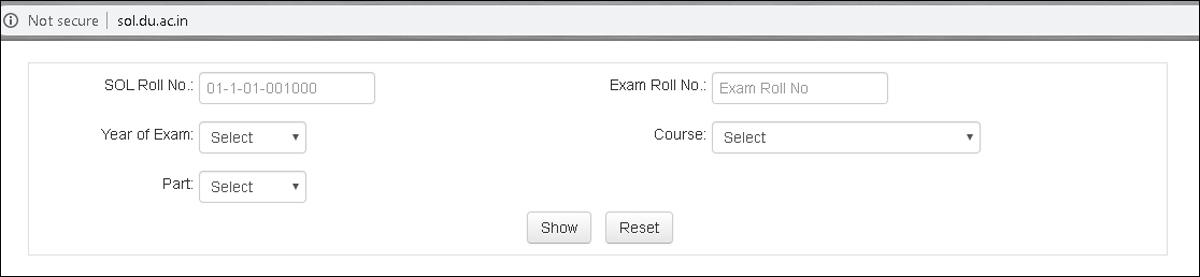 DU SOL B.Com final results declared