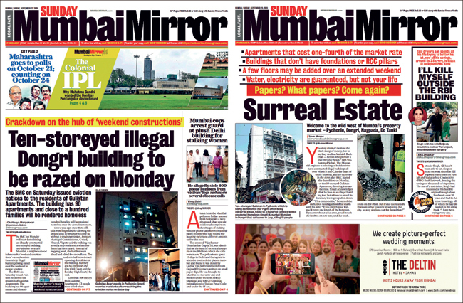 Mirror's coverage of Gulistan's demolition