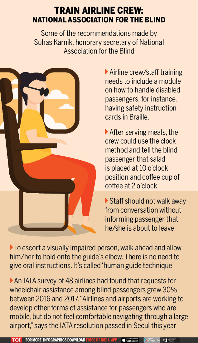 Train airline crew National Association for the Blind (1)