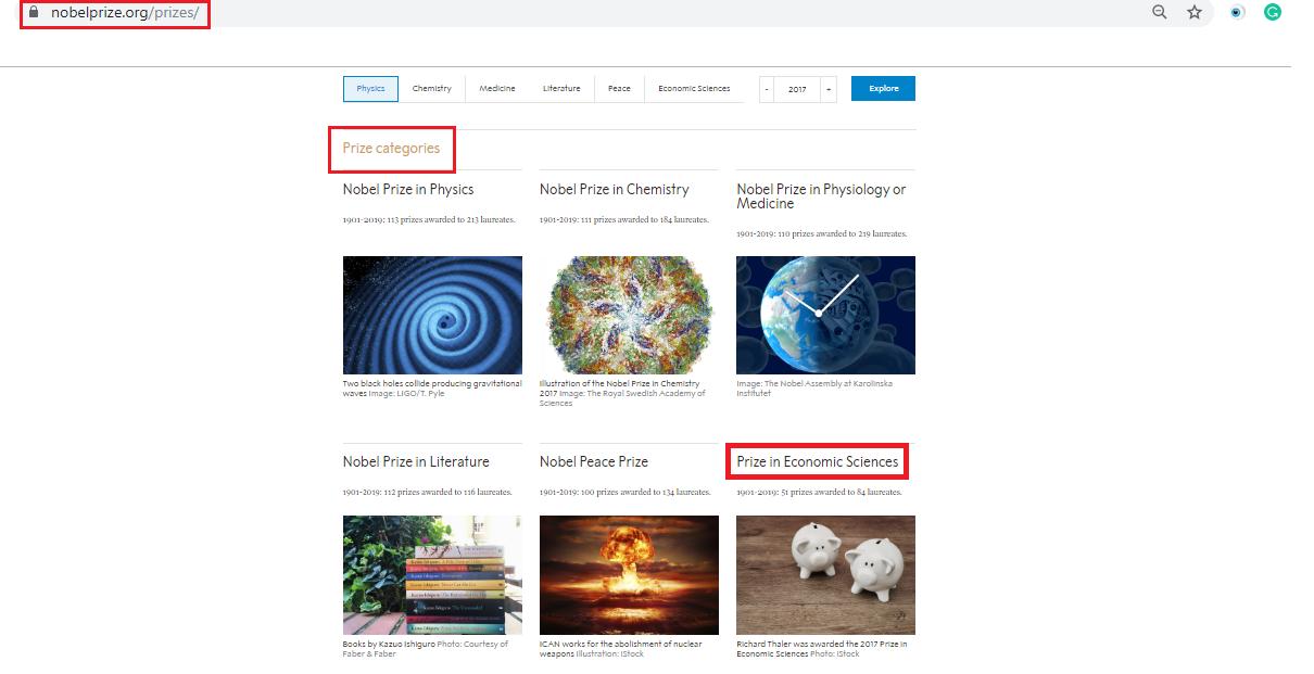 Nobel Prize Website