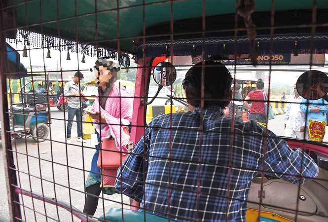 Most women commuters say the caged look of pink autos makes them feel vulnerable