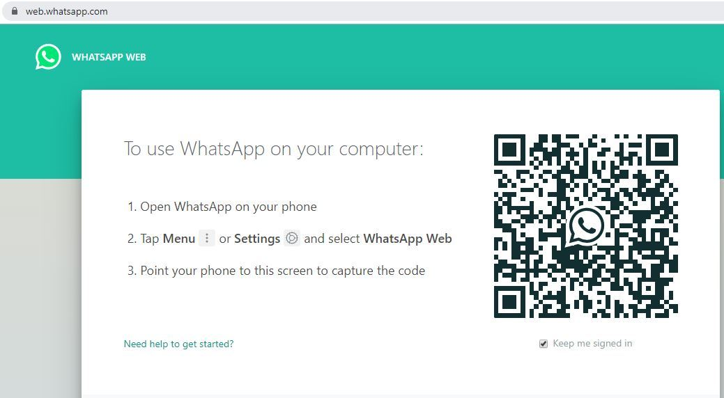 connect phone with whatsapp web