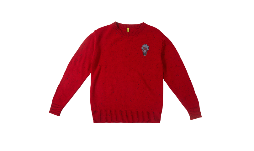 Boys Red Solid Pullover