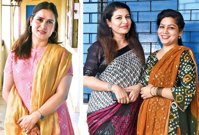 Deepti Joshi (R) Seema Khan and Tanu Bora (BCCL/ Vishu Jaiswal)