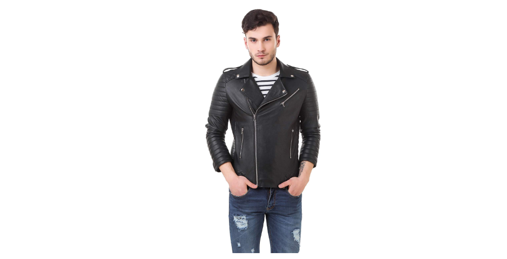 Generic Men's Retail Faux Leather Roadies Jacket