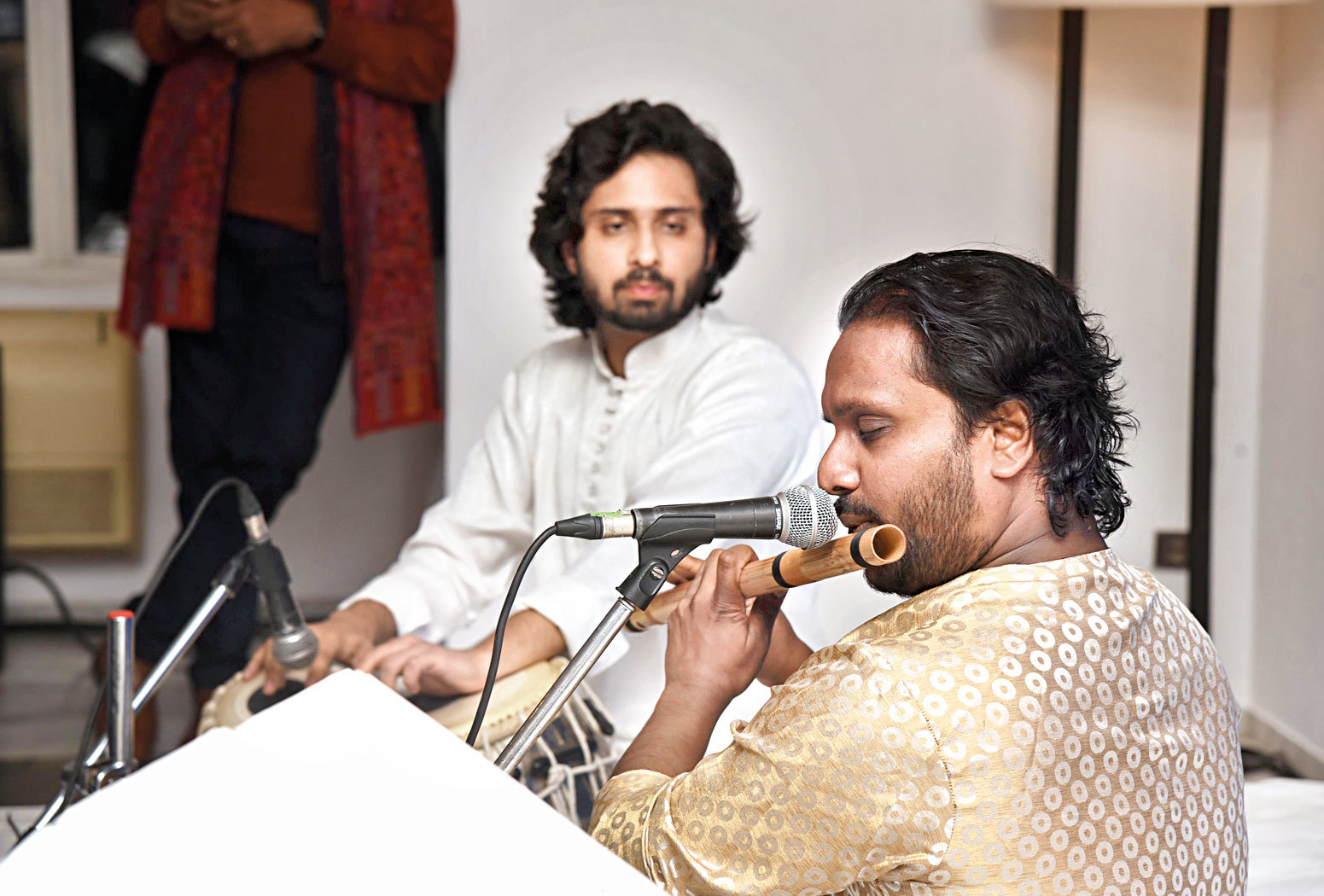 Ritesh Prasanna and Shariq Mustafa presented Raga  Yaman at the event