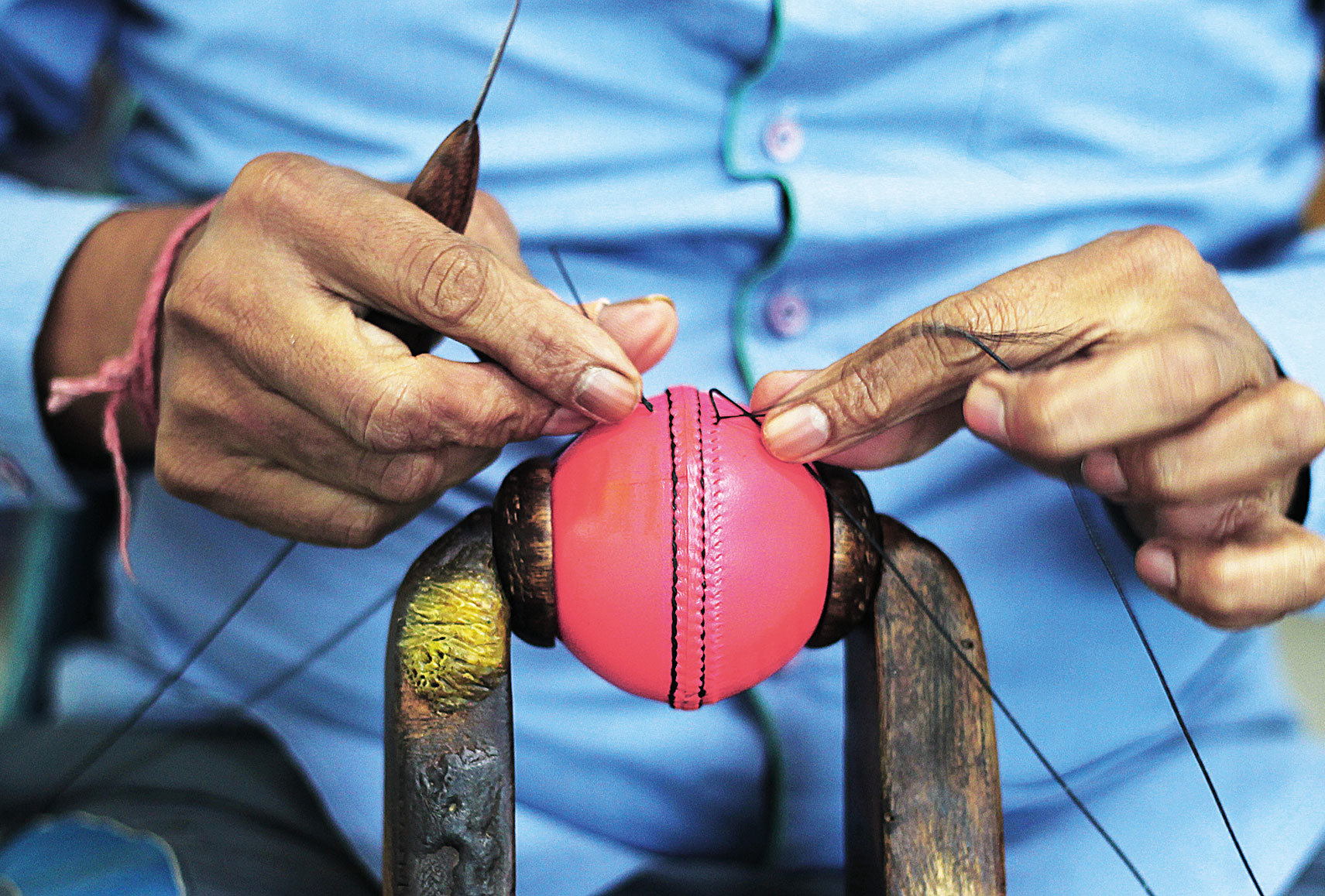 What Goes In The Making Of A Brand New Pink Cricket Ball Off The Field News Times Of India