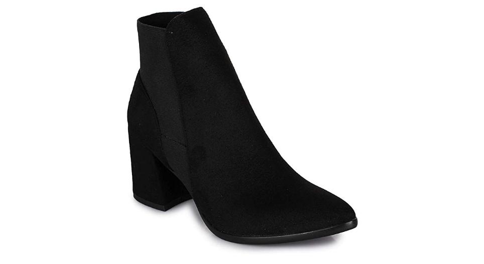 Women Suede Black Heel Boots