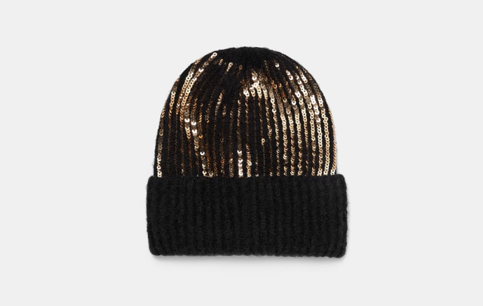 Sequined beanie