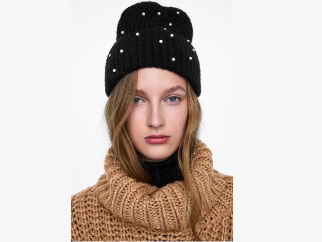 Oversized Pearl Bead Hat