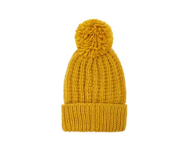 Rib-knit hat