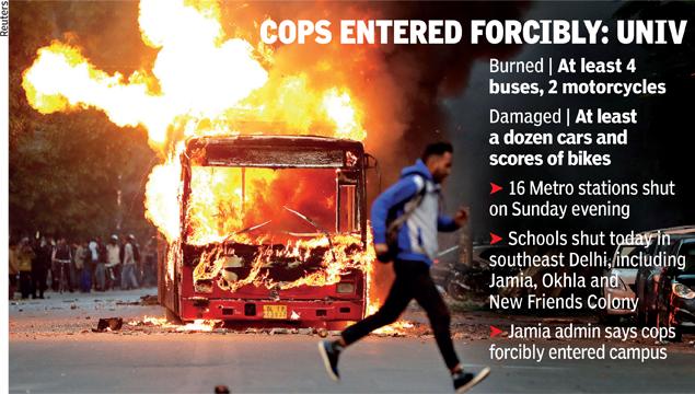 cops entered forcibly