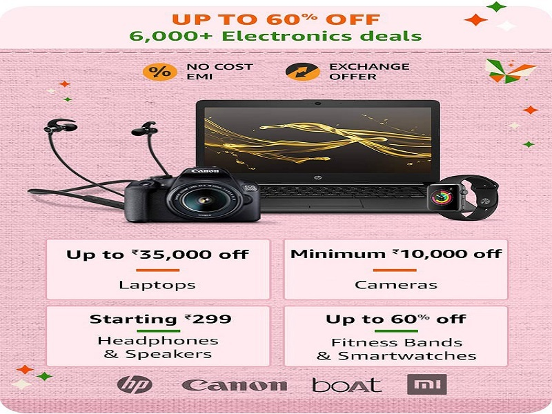 Up to 60% off on electronics