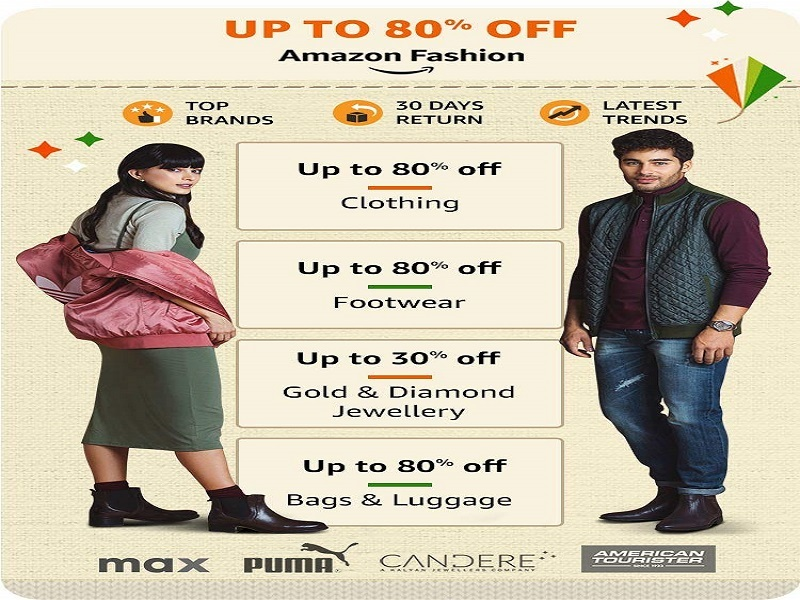 Up to 80% off on Fashion