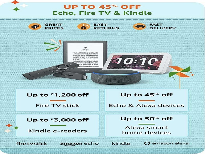 Up to 45% off on Echo, Fire Stick and more