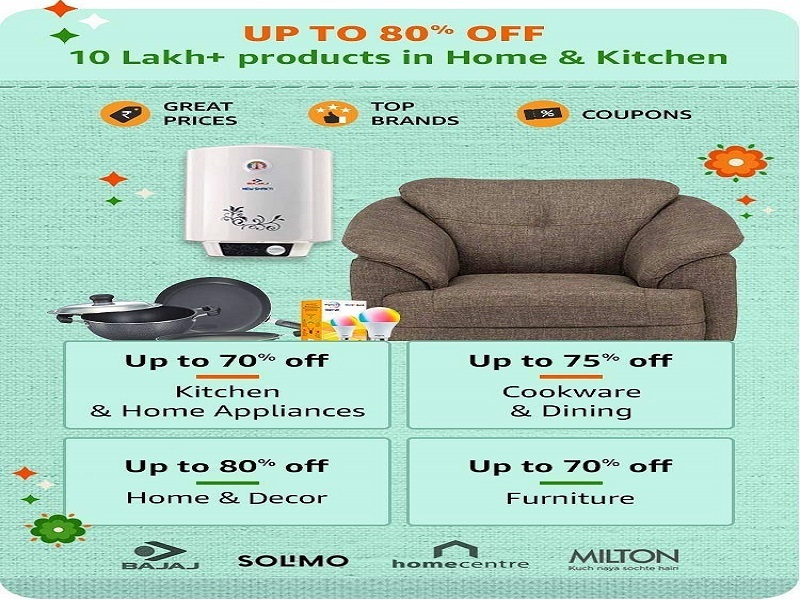 Up to 80% off on Home and Kitchen