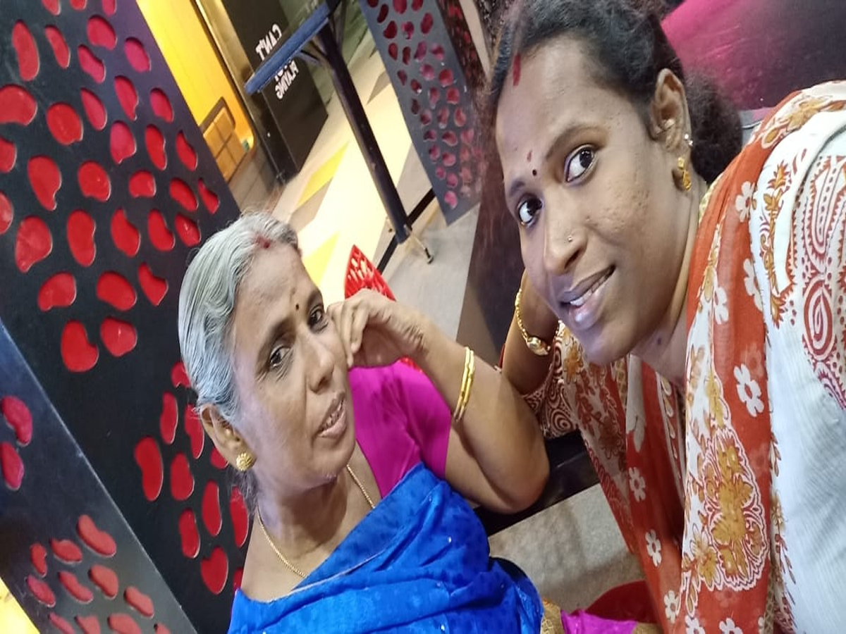 Swapna with her mother
