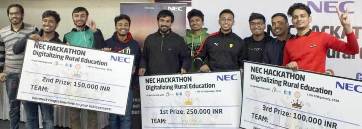 AIT students bag top three positions at hackathon