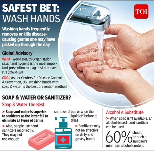 Safest bit wash hands