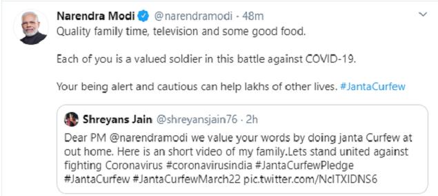 Modi new tweet