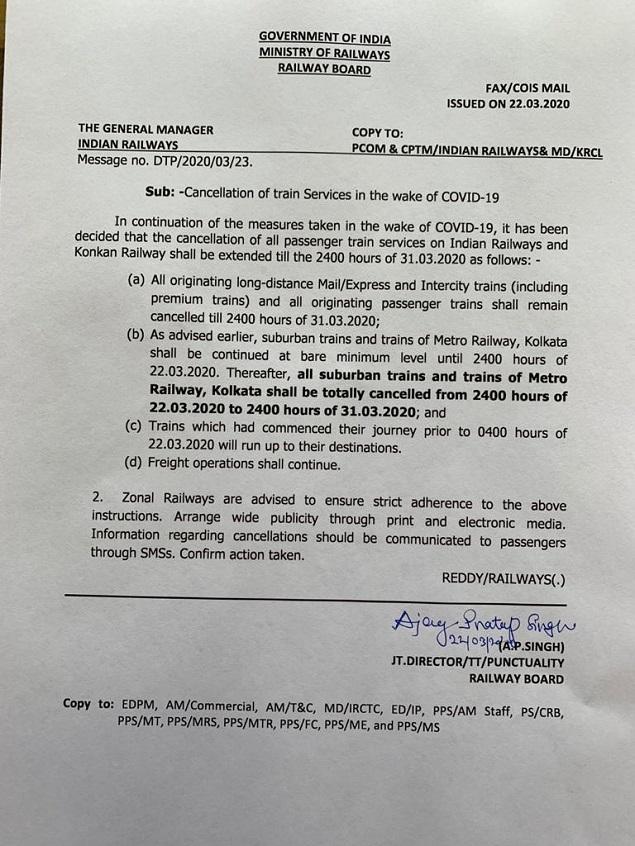 Railway order