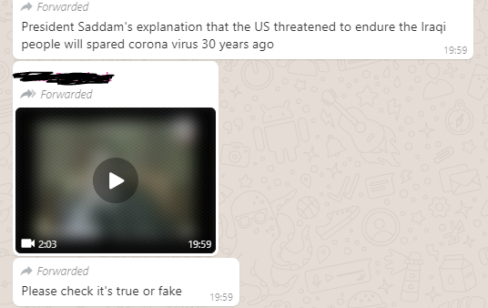 whatsapp query.