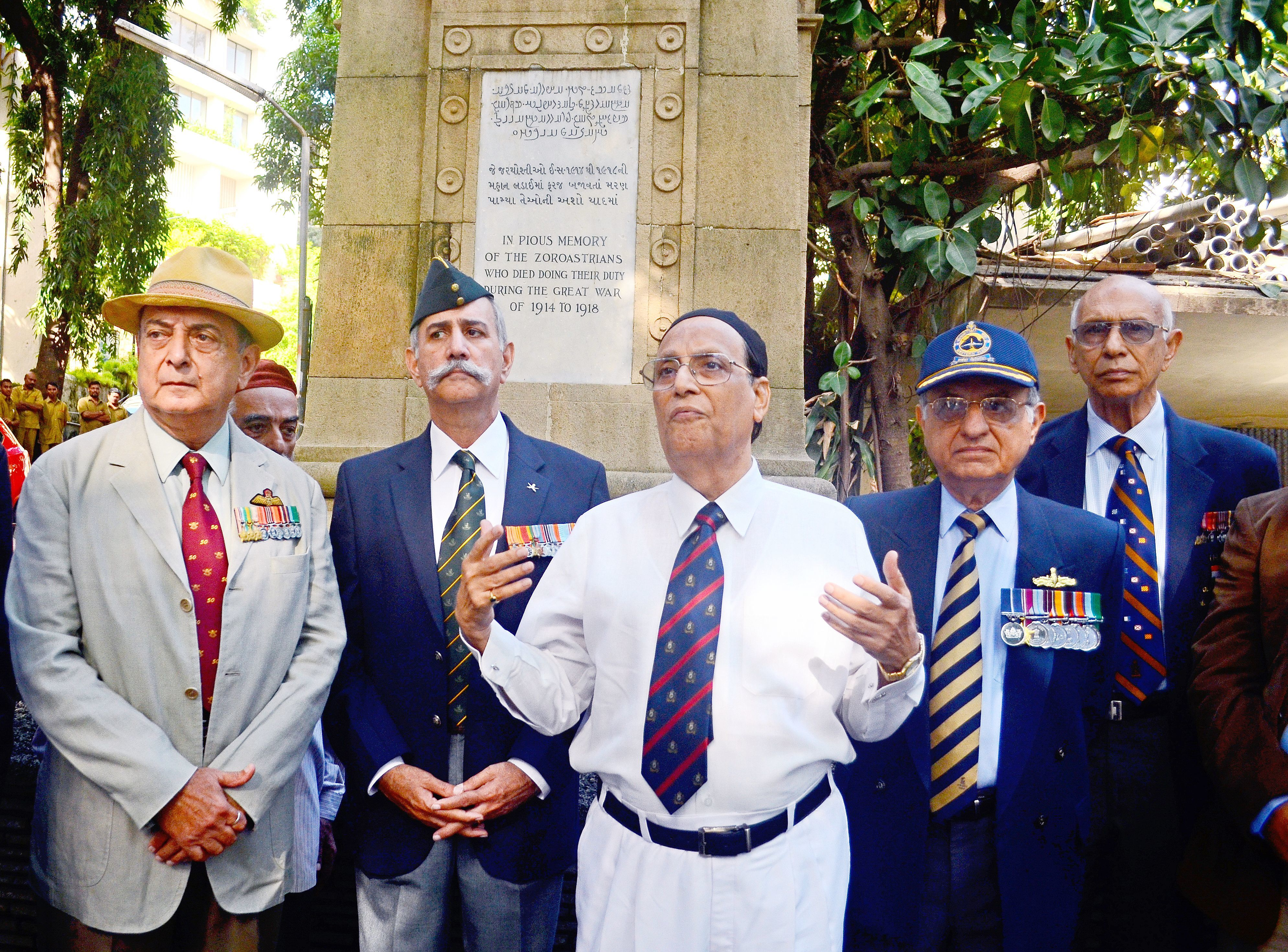 """Created """"in pious memory of the Zoroastrians, who died doing their duty during the Great War"""""""