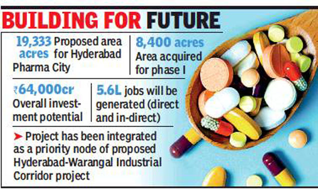 Hyderabad Pharma City project to be fast-tracked   Hyderabad News - Times  of India