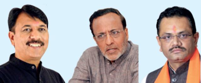 (L to R)Amit Chavda, Arjun Modhwadia, JituJitu Vaghani