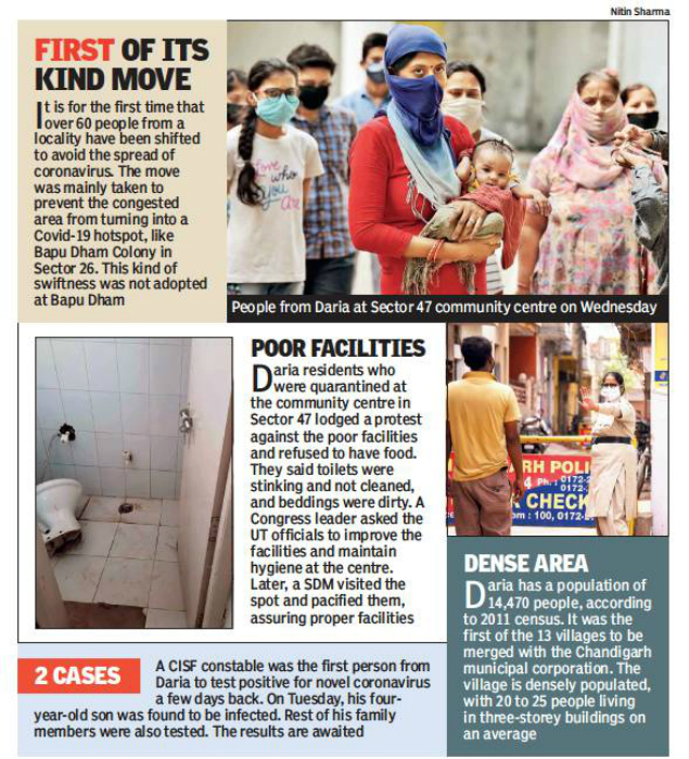 Chandigarh 61 From Daria Quarantined To Prevent Bapu Dham 2 0 Chandigarh News Times Of India
