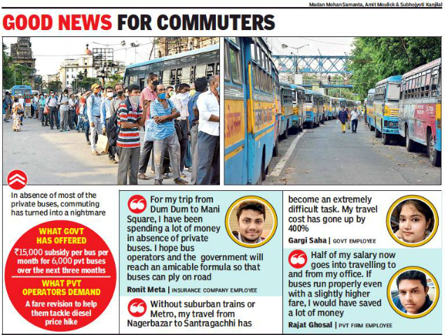 West Bengal News Operators Relent Private Buses To Resume Services From Thursday Kolkata News Times Of India
