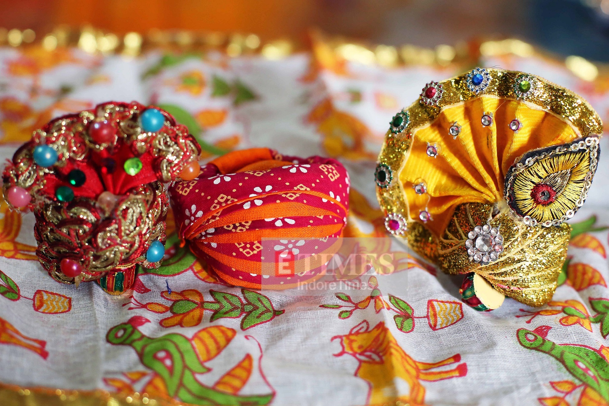 Repurposing old clothes and sarees to create turbans
