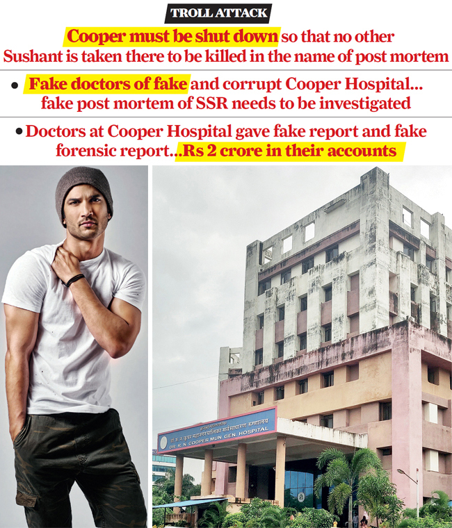 Cooper hospital's autopsy report had said actor Sushant Singh Rajput had died of 'asphyxia due to hanging'