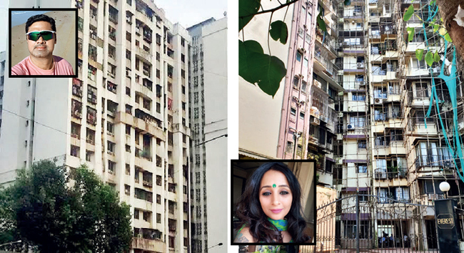 Abhijit Dhiwar's building in Goregaon wants people to take responsibility for future Covid cases, if they let domestic workers in; Pinky Poonawala's (right inset)building society wouldn't allow domestic workers in, but residents could come and go at will