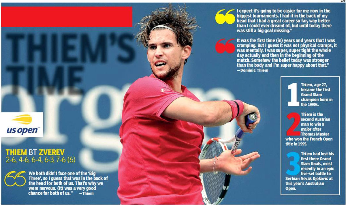 Us Open Dominic Thiem Beats Alexander Zverev To Annex First Grand Slam Title Tennis News Times Of India