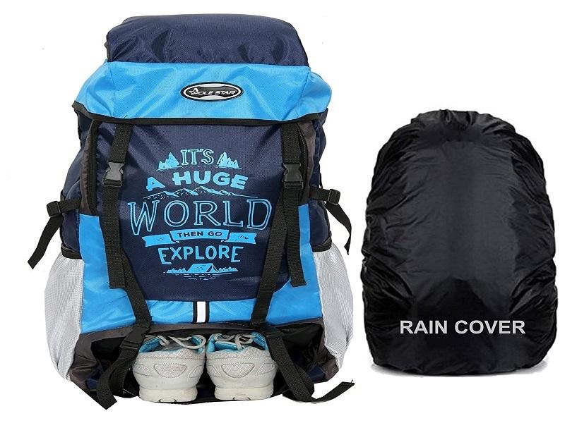 POLESTAR XPLORE 55 ltrs with Rain Cover Rucksack Hiking Backpack