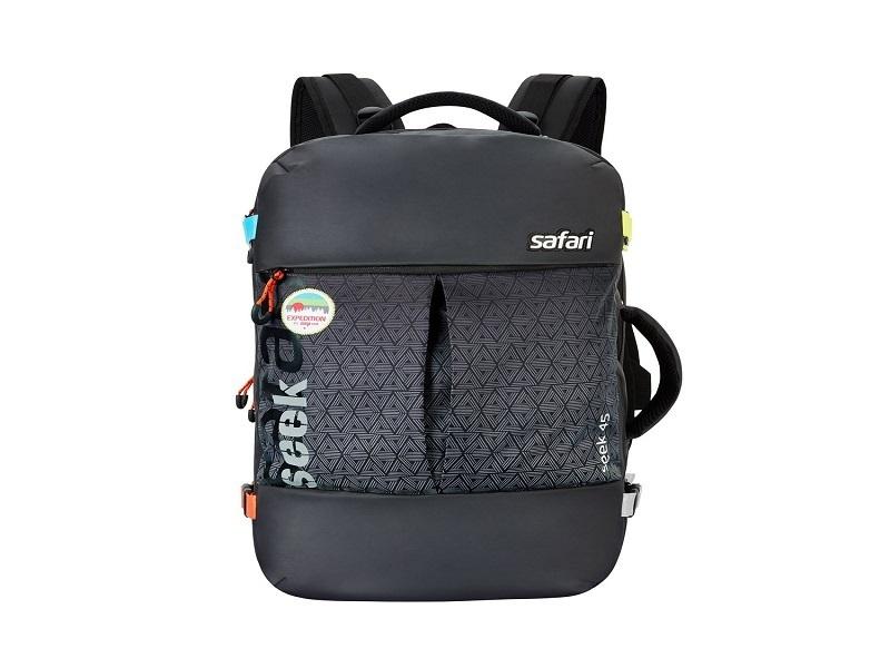 Safari 45 Ltrs Black Large Travel Office Laptop Backpack