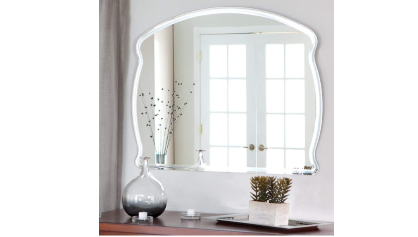 Frameless mirror for entryway