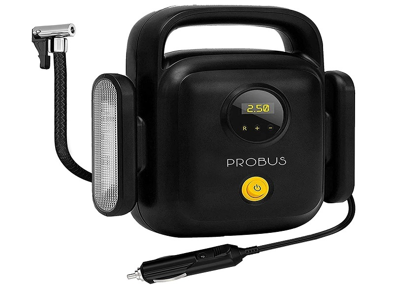 Probus Heavy Duty 150 Psi 4 Cylinders Compact Digital Tyre Inflator