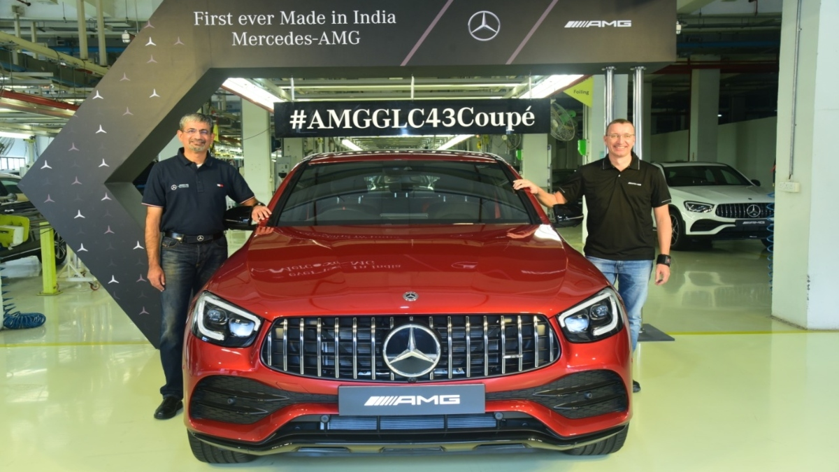 Mercedes Amg Glc 43 Coupe Price Mercedes Amg Glc 43 Coupe First Made In India Performance Car Launched At Rs 76 70 Lakh