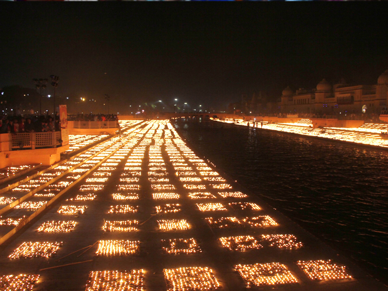 4. Ayodhya dazzles; Yogi leads with prayers