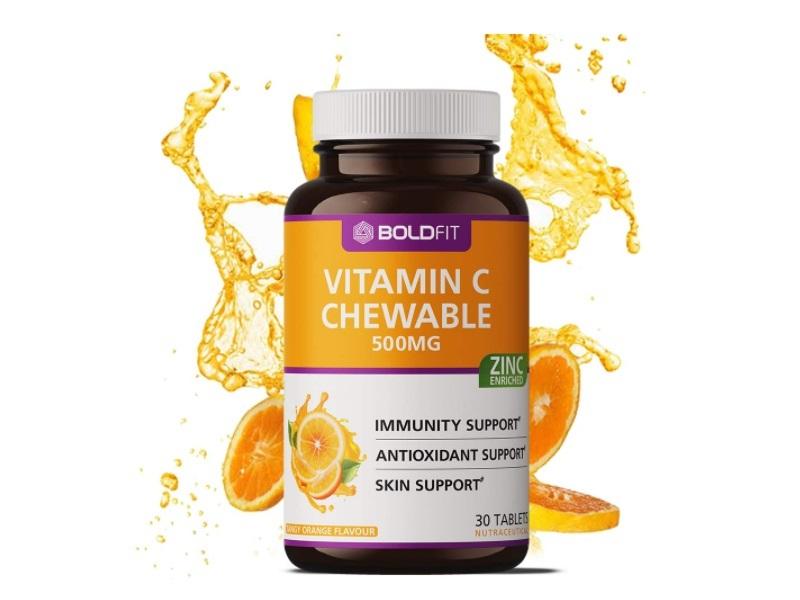 Boldfit Vitamin C With Zinc Chewable Tablets