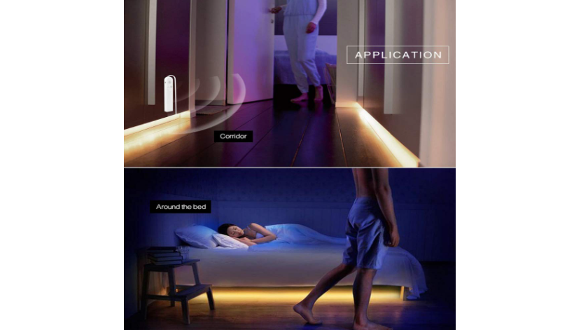 LED strip lights for under bed illumination