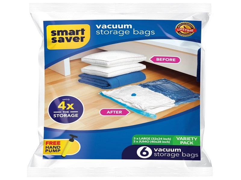 Smart Saver Vacuum Storage Ziplock Bags for Travel