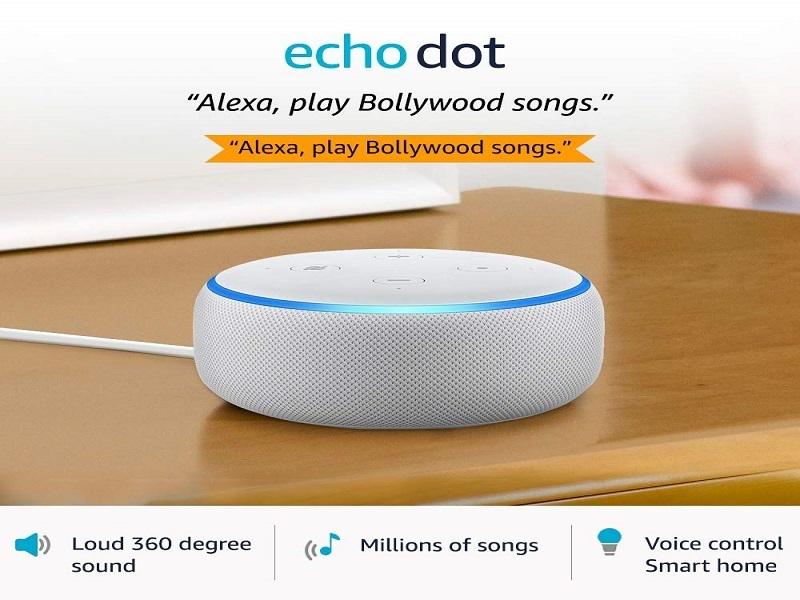 Echo Dot (3rd Gen) – Smart speaker with Alexa (White)