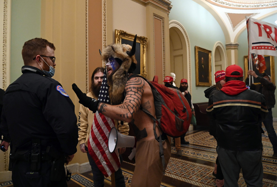 Demonstrators breeched security and entered the Capitol AFP 635