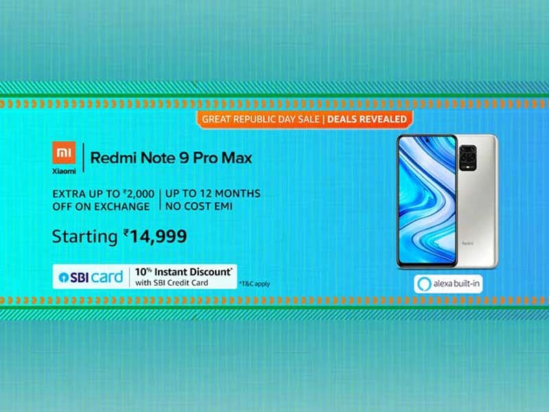 Redmi Note 9 Pro Max on Amazon sale