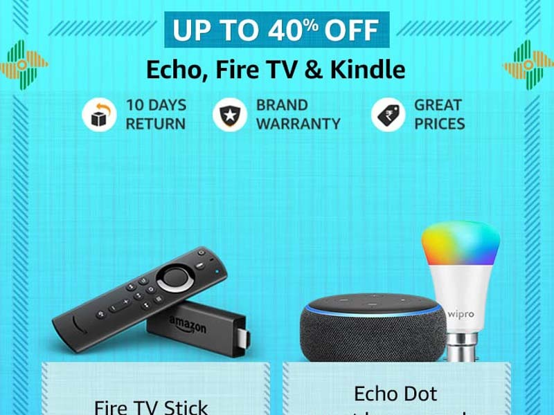 Amazon offers on Echo, Fire TV & Kindle