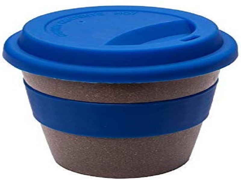 Smartcraft Bamboo Coffee Cup - Blue, 350 ml