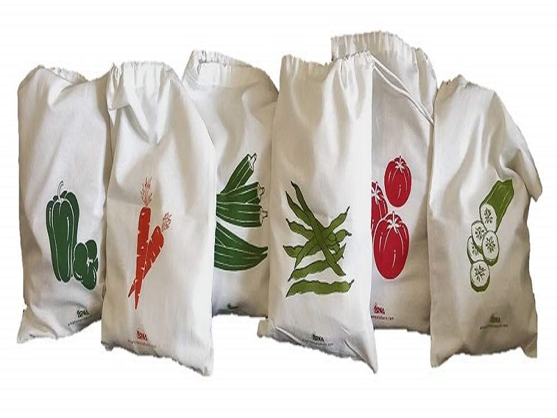 Arka Home Products 100% Cotton Vegetable Storage Fridge Bags